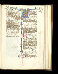 Illuminated Initial, In William Of Ockham's 'Dialogue'